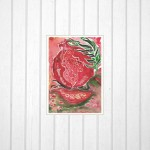 Art Print of Original Watercolor Painting. Pomegranate. Kitchen Art. Made in Israel
